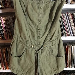 Guess Army Green Jumper Romper Strapless